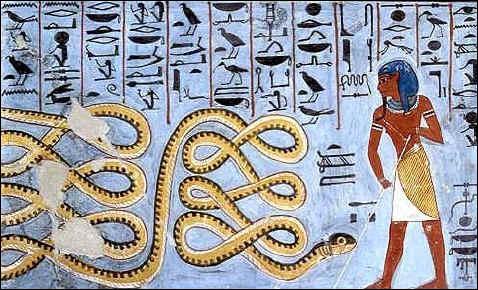 Voici Apophis, un dieu qui tente chaque nuit d'anéantir le soleil. Mais quelle est sa fonction ?