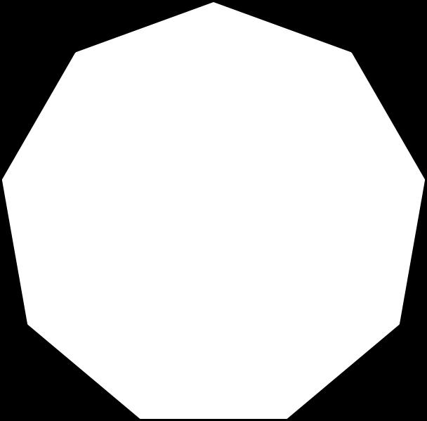 comment dessiner un polygone a 9 cotes