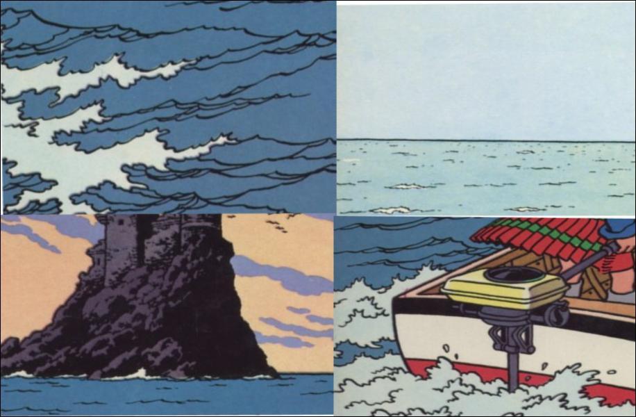Quel est l'élément qui ne fait pas partie de l'album 'L'île noire' ?