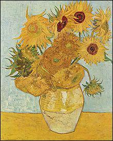 De 1888 à 1889, qui a peint une série de sept tableaux intitulée 'Les Tournesols' ?