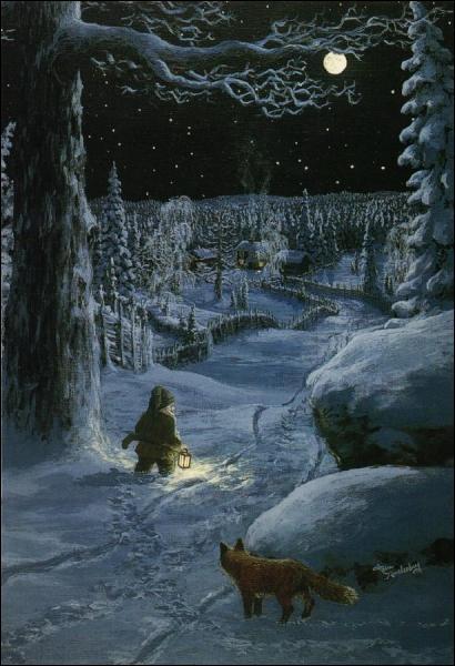 Qui a peint 'Après minuit' ? (CLIQUEZ SUR L'IMAGE pour l'agrandir. )