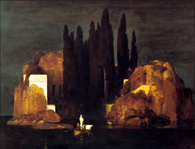 Qui a peint 'L'île des morts' ? (CLIQUEZ SUR L'IMAGE pour l'agrandir. )