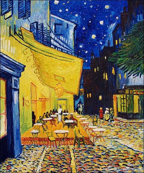 Qui a peint cette terrasse de café la nuit à Arles ? (CLIQUEZ SUR L'IMAGE pour l'agrandir. )
