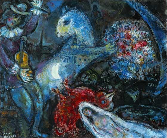 Qui a peint 'La nuit enchantée' ? (CLIQUEZ SUR L'IMAGE pour l'agrandir. )