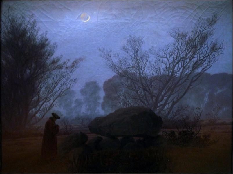 Qui a peint ce paysage nocturne ? (CLIQUEZ SUR L'IMAGE pour l'agrandir. )