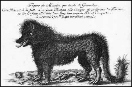 Enfin, quel animal légendaire aurait tué plusieurs personnes dans le sud du Massif central, entre 1764 et 1767 ?
