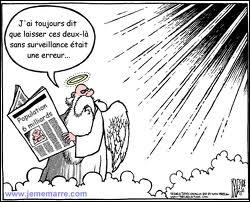 Le Pape, par erreur a été envoyé en enfer, et DSK au Paradis. Erreur rectifiée, le Pape dit à DSK, tant mieux, je vais enfin au Paradis, je voulais tant voir la vierge Marie ! Que lui répond DSK ?