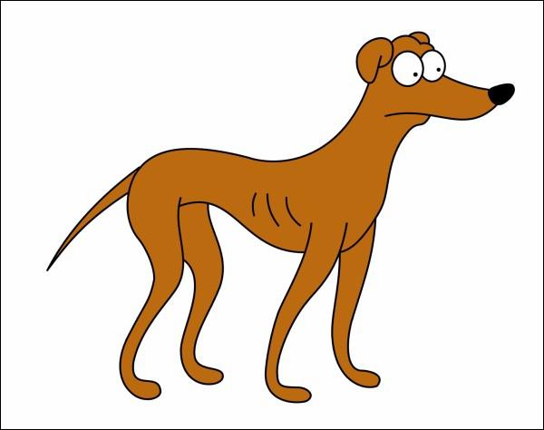 Comment s'appelle le chien des Simpson ?