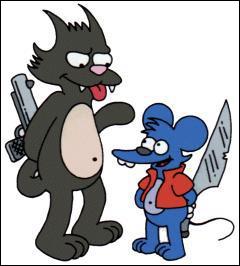Quels sont les noms de ces animaux, qui sont en fait une parodie de Tom et Jerry ?