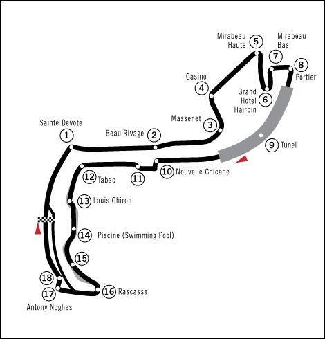 Circuit urbain pour le GP de :