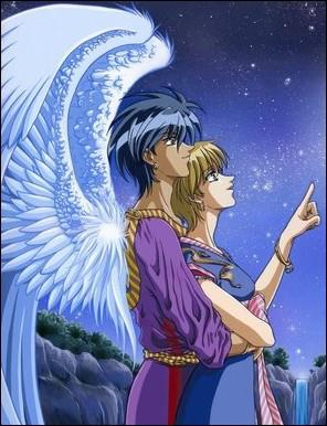 Dans 'Vision d'Esclaflowne', Hitomi tombe amoureuse de Van, le roi du royaume de Fanélia, qui est un descendant du peuple des :