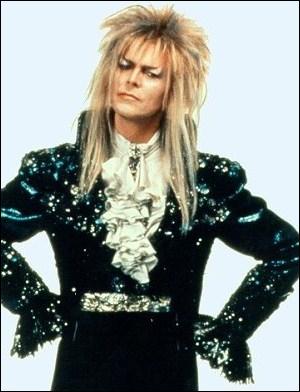 David Bowie avec une touffe hirsute et un maquillage glam rock, c'était dans :