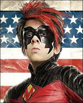 Un super-héros nommé Red Mist avec une coiffure... hum, dynamique, c'est dans :
