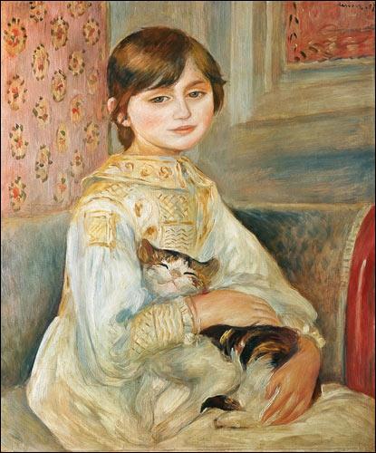 Qui a peint Julie Manet avec un chat ?