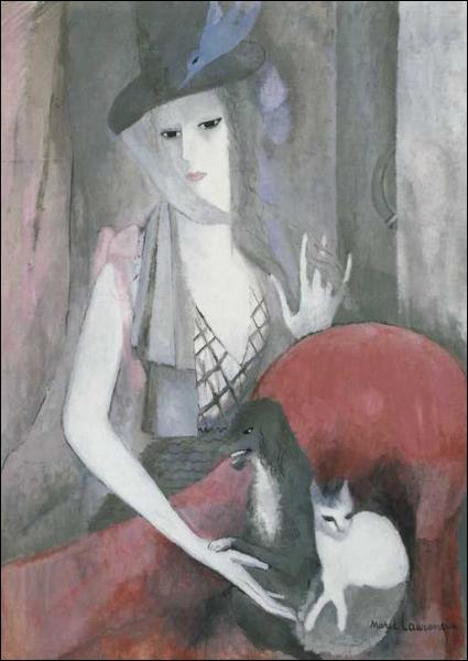 Qui a peint Femme au chien et au chat ?