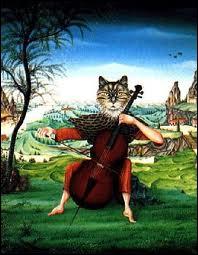 Qui a peint Le chat violoncelliste ?