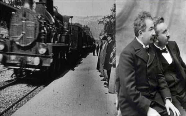 Qui ont réalisé ''l'Arrivée d'un train en gare de La Ciotat'' ?