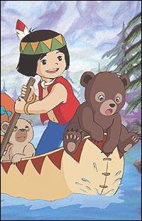 C'est un petit ourson qui provient d'un dessin animé japonais :