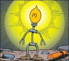 Quel est le nom de son petit assistant aux idées lumineuses ?