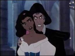 Comment disparait l'ignoble Frollo dans ' Le bossu de Notre-Dame ' ?