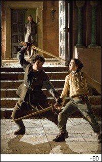 Stark fait passer Le Maitre d'arme pour...