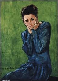 Qui a peint Femme sur fond vert ?