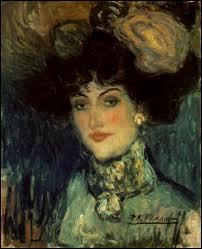 Qui a peint Femme au chapeau à plumes ?