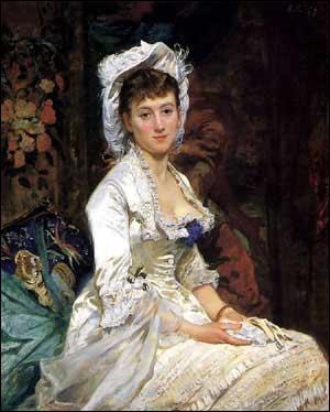 Qui a peint Portrait d'une femme en blanc ?
