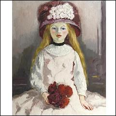 Qui a peint Fille au chapeau fleuri ?