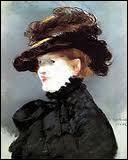 Qui a peint Mery Laurent au chapeau noir ?