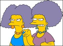 Comment se nomment les soeurs jumelles de Marge ?