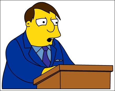 Qui est le maire de la ville de la famille Simpson ?