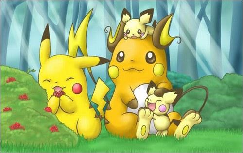 Lequel des ces Pokémon ne fait pas partie de la même famille ?