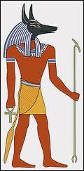 Dieu des morts dans la mythologie égyptienne, représenté avec une tête de chacal, je suis