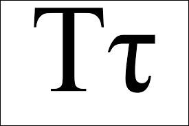 Quelle lettre grecque mise à l'envers signifie qu'on a affaire à 2 droites perpendiculaires en géométrie ?