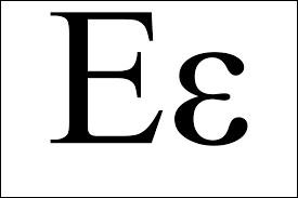 En mathématiques, ''epsilon'' est le symbole...