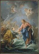 En traversant quelle mer Jésus a-t-il marché sur l'eau ?