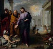 Quel est le miracle accompli par Jésus lorsqu'il prononça les paroles suivantes :  Lève-toi et marche  ?