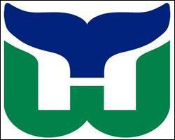 Voici maintenant le logo de Hartford Whalers. Ce logo a trois sens, un pour chaque couleur. Le premier est avec la couleur verte, qui représente un W. Qu'en est-il des deux autres couleurs ?