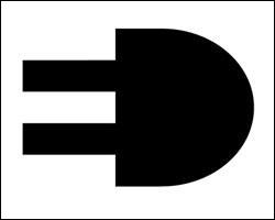 Voici encore un logo avec trois sens, Le logo ED. Regardez la partie noire. Elle représente une prise électrique. Quels sont les deux autres sens ?