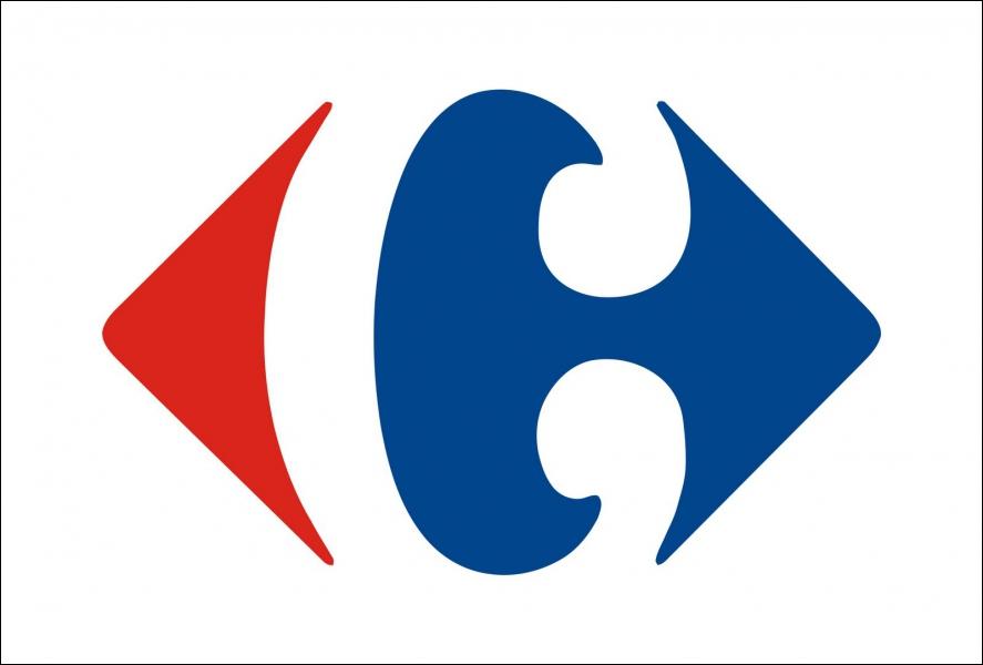 Maintenant, voici le logo de Carrefour qui semble représenter deux flèches, une bleue et une rouge. Mais essayez de trouver ce que veulent vraiment dire ces flèches...