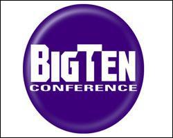 Ceci est le logo Big Ten. Dessus, il y a marqué le nom de la marque. À présent, regardez entre le G, le T et le E. Que voyez-vous ?