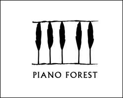 Maintenant, intéressons-nous au logo Piano Forest. Vous pouvez voir sur ce logo quelques arbres noirs, mais aussi...