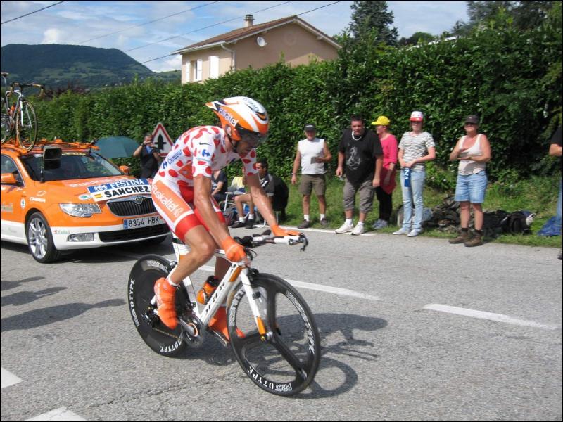 Nous avons là le vainqueur du maillot à pois du Tour de France 2011, Samuel Sanchez. Quel autre titre majeur a-t-il en ce moment ?