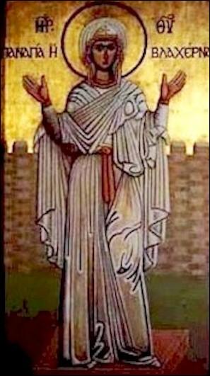 Qu'arrivait-il à la Sainte Icône des Blachernes tous les vendredis ?