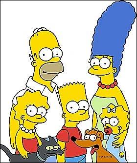 Comment s'appellent les membres de la famille Simpson ?