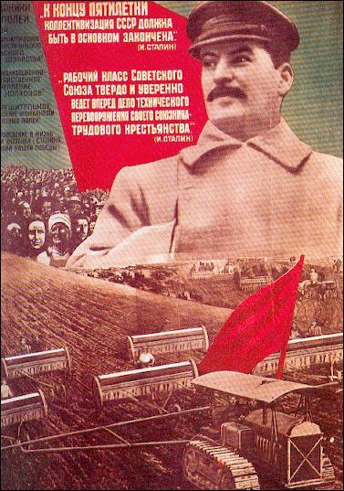 Quand a eu lieu la collectivisation des terres en URSS ?