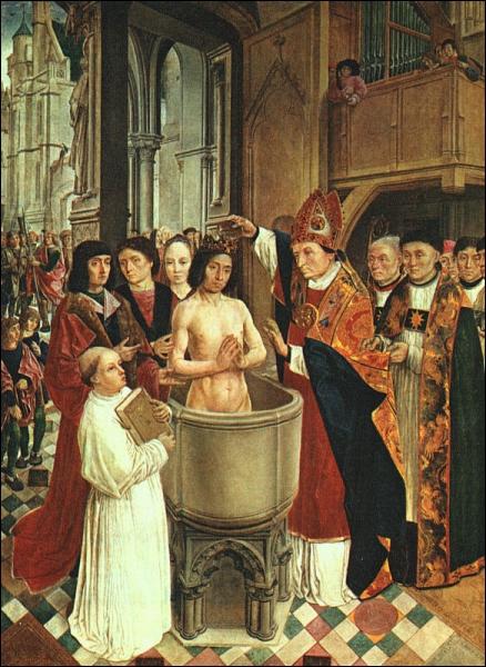 Quand et où Clovis a-t-il été baptisé ?