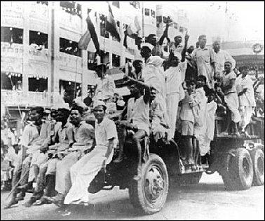 Quand l'Inde a-t-elle acquis son indépendance et grâce à quels personnages ?
