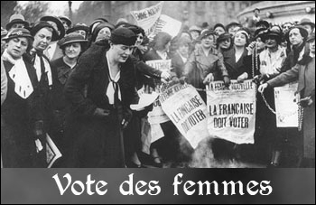 Quand les femmes acquierent-elles le droit de vote en France ?